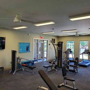 Apartment complex gym area