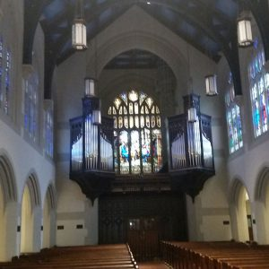First Presbyterian Church Interior Custom Lighting Panel + Fixtures